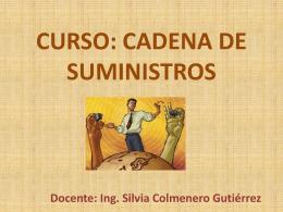 CURSO: CADENA DE SUMINISTROS