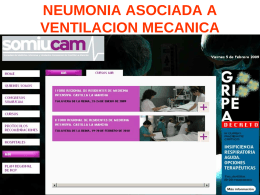 NEUMONIA ASOCIADA A VENTILACION MECANICA