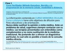 Diapositiva 1 - curso memoria celular
