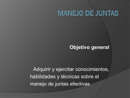 CURSO MANEJO DE JUNTAS -