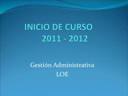 INICIO DE CURSO 06/07
