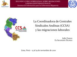 La CCSA y las migraciones laborales