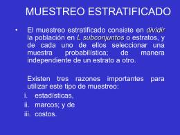 6. MUESTREO ESTRATIFICADO