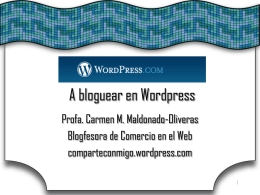 A bloguear en Wordpress