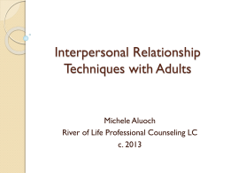 Relationship Building Techniques for Adult Clients