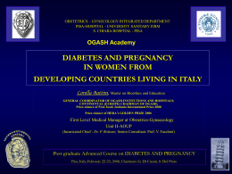 DIABETES AND PREGNANCY IN WOMEN FROM …
