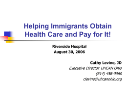 Healthcare & Immigrants - Wright State University