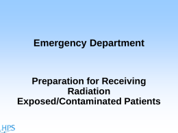 Hospital Preparation for a Radiation Patient