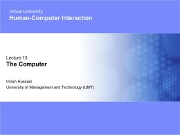 13- Computer Characteristics