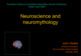 Glossary of Neuroscience Terms  BrainU