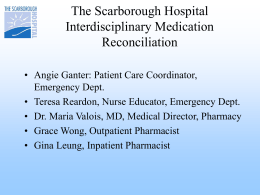 The Scarborough Hospital - July 15, 2009 Presentation