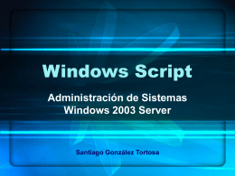 Windows Script - Laboratorio SS.OO. [Sistemas Operativos]