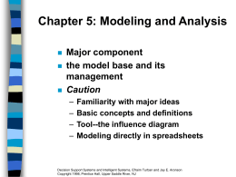 Chapter 5 Modeling and Analysis