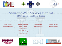 Semantic Web Services Tutorial ESWC 2005
