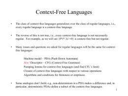 Context - Free Languages