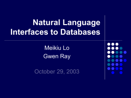 What is Natural Language Database Interface?