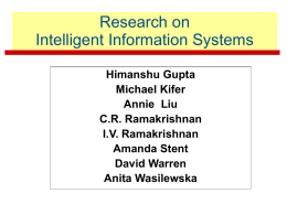 Research on Intelligent Information Systems