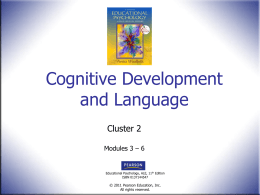 Cognitive Development Part I