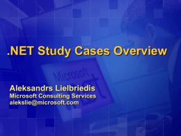 Microsoft .NET Compact Framework Overview