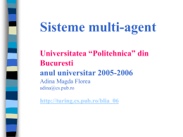 Multi-Agent Systems - AI-MAS - Universitatea Politehnica