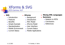 XForms & SVG MITA Seminar, HUT - TKK