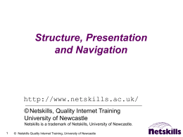 Structure and Presentation - Birkbeck, University of London