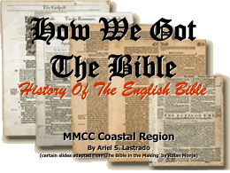 How We Got The Bible - Add To Your Learning
