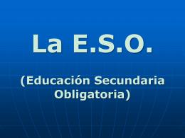 Empezamos la E.S.O.