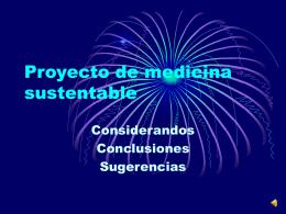 Proyecto de medicina sustentable