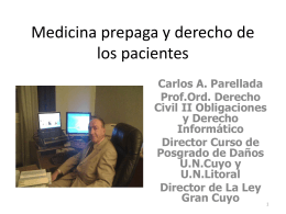Medicina prepaga y derecho de los pacientes