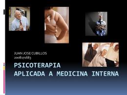 PSICOTERAPIA APLICADA A MEDICINA INTERNA