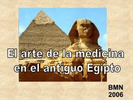 El arte de la medicina en el antiguo Egipto