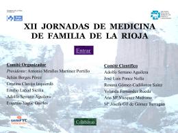 XII JORNADAS DE MEDICINA DE FAMILIA DE LA RIOJA