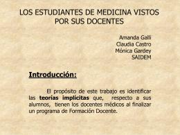 LOS ESTUDIANTES DE MEDICINA VISTOS POR SUS …