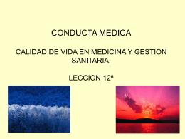 CONDUCTA MEDICA CALIDAD DE VIDA EN MEDICINA Y …