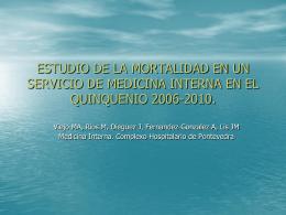 ESTUDIO DE LA MORTALIDAD EN UN SERVICIO DE …