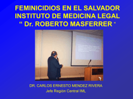 FEMINICIDIOS EL SALVADOR ENERO