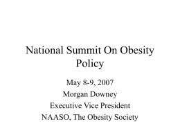 National Summit On Obesity Policy