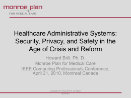 Healthcare Administrative Systems: Security, Privacy, …