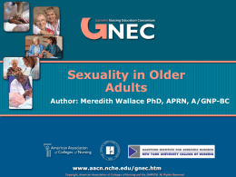 GNEC - Sexuality in Older Adults