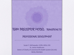 TEAM PRECEPTOR MODEL: TRANSITIONS TO …