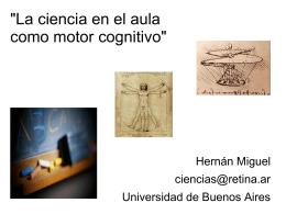 'La ciencia en el aula como motor cognitivo'