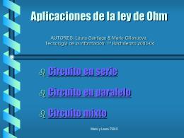 Aplicaciones de la ley de Ohm