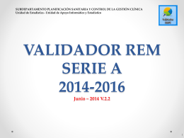 Validadores REM Serie A 2012