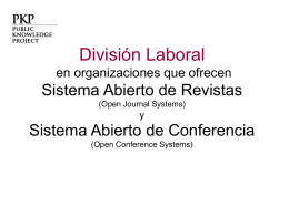 OJS Division of Labors