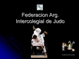Federacion arg. Intercolegial de judo