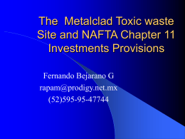Metalclad case and NAFTA Chapter 11
