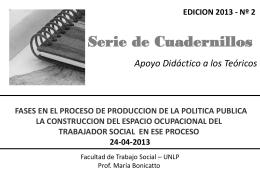 Diapositiva 1 - Facultad de Trabajo Social (UNLP)