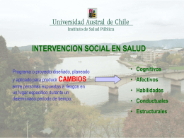 INTERVENCION SOCIAL EN SALUD