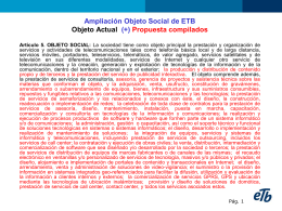 2. MODIFICACION DEL OBJETO SOCIAL DE ETB
